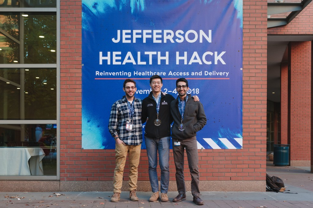 Health Hack winners Adam Hecht, Victor Hsue and Mark Keroles