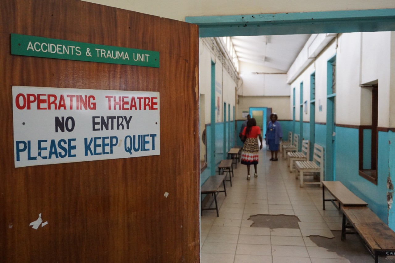 Hallway Leading To Operation Room in Africian Hospital