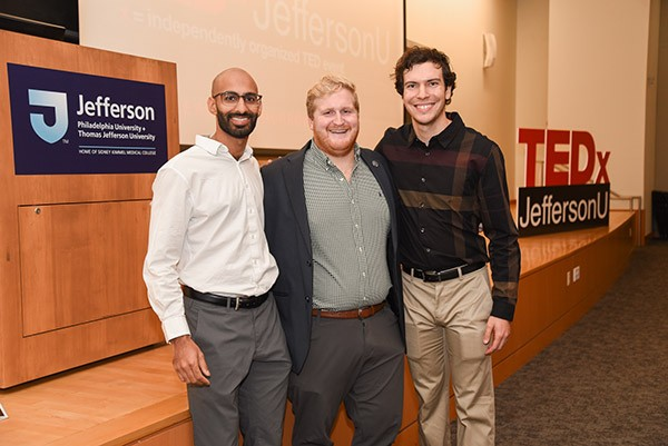 Students Saami Zakaria, David Wilson and Shandon Coffman spent a year planning Jefferson's TEDx event