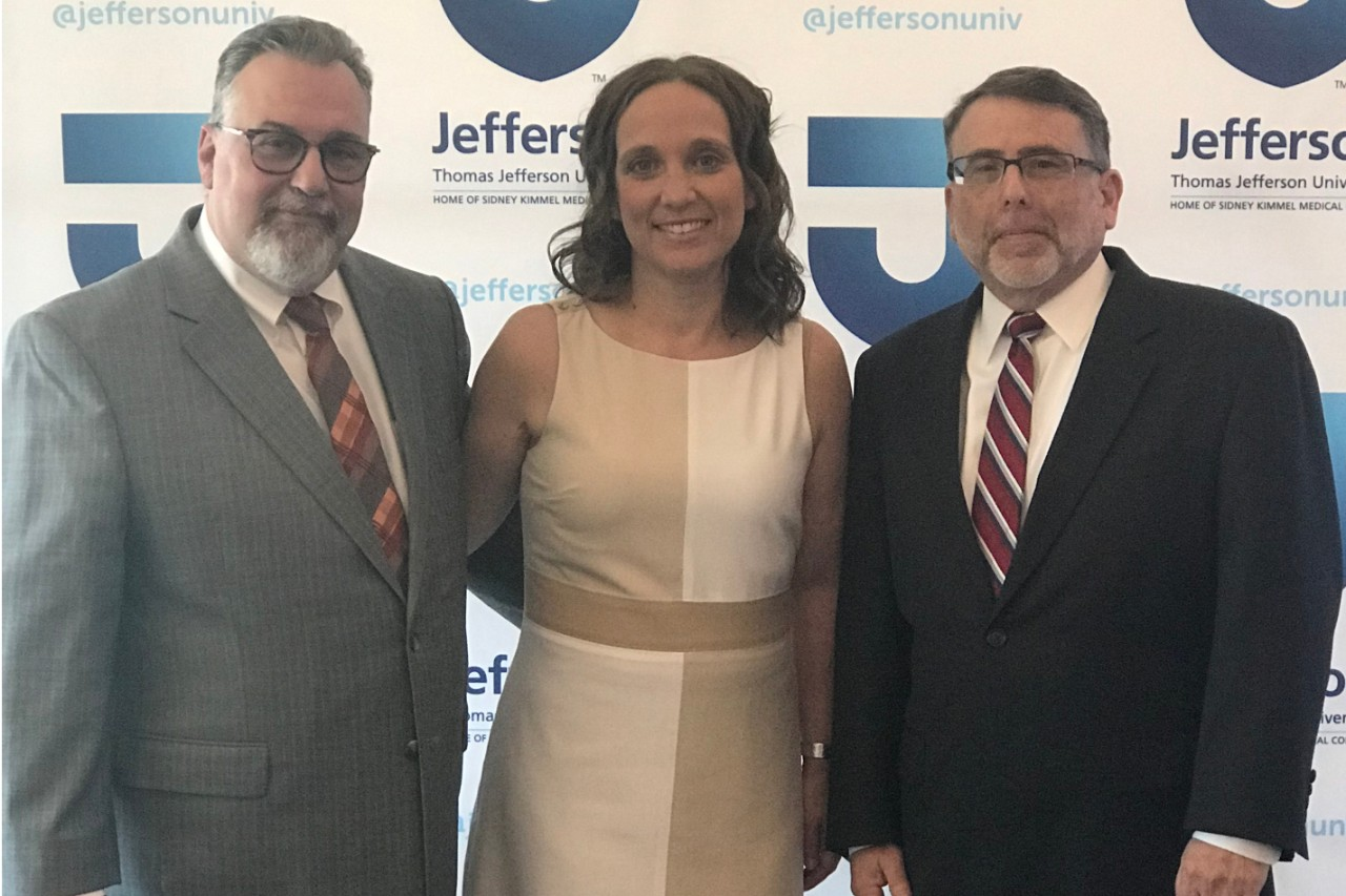 Jesse Coale, Director, Physician Assistant Program; Dana Cafaro, Associate Program Director, Voorhees Campus; and Michael Dryer, Dean, College of Health Professions