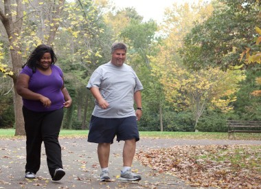 people with obesity exercising