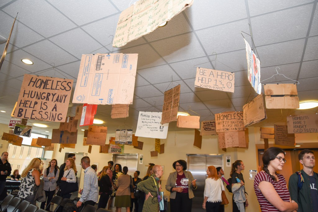 Signs for humanity exhibition
