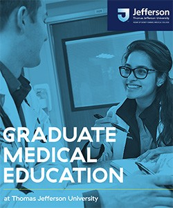 2020 Graduate Medical Education at Thomas Jefferson University Brochure Cover