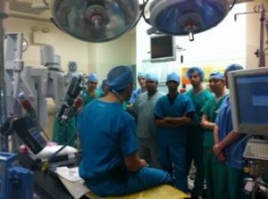 Dr. Lallas instructs in the Operating Room