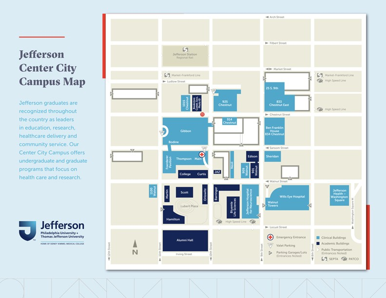 Jefferson Campus Map 2017